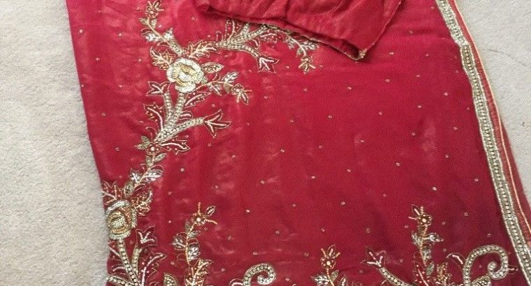Brand new Saree with ready stitched blouse
