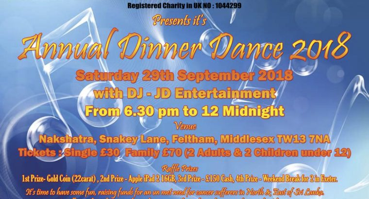 Annual Dinner and Dance – 29th September 2018